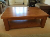 Next Chunky Wooden Coffee Table, with shelf - in good condition