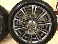 """18"""" Alloys for BMW 5 Series (F10) fitted with Winter Tyres"""