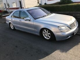 W plate Mercedes Benz s500. 5 ltr engine with lpg convertion motd