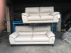 reduced Fantastic ex-display dfs 2 and 3 seater in cream