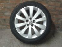 "Vauxhall astra J series sports tourer estate alloy wheel 17"" and new tyre"