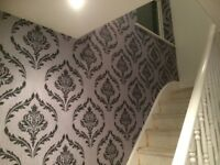 £75 PER FEATURE WALLPAPER FITTING. 24 HOUR CALL OUT SERVICE. FEATURE WALLS. PAINTER AND DECORATOR