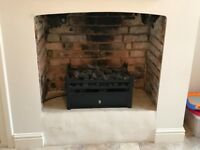 Gas Fire - Magiglo Fire with Cast Iron Basket