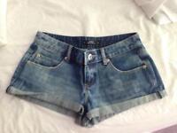 Miss selfridge petite denim shorts size 10 or 8