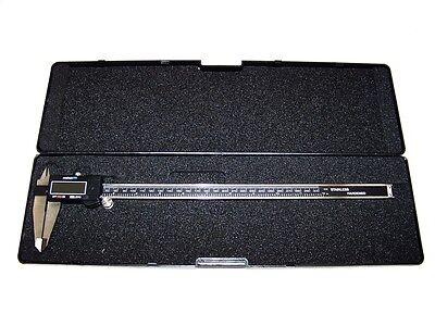 12 Stainless Electronic Digital Vernier Caliper Gauge Lcd Display Metric Sae