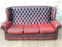 3 Seater Chesterfield Monk High back sofa (Delivery)