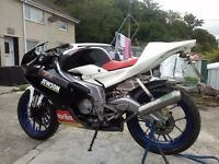 Aprilia rs125 2008 Road legal