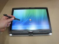 FUJITSU LIFEBOOK TABLET LAPTOP 2.4GHZ 4GB 500GB DVDRW WIN 7 TOUCHSCREEN nin