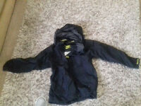 Kids Helly Hansen Light Waterproof Jacket Sailing Hiking Walk Black 8/10 yrs