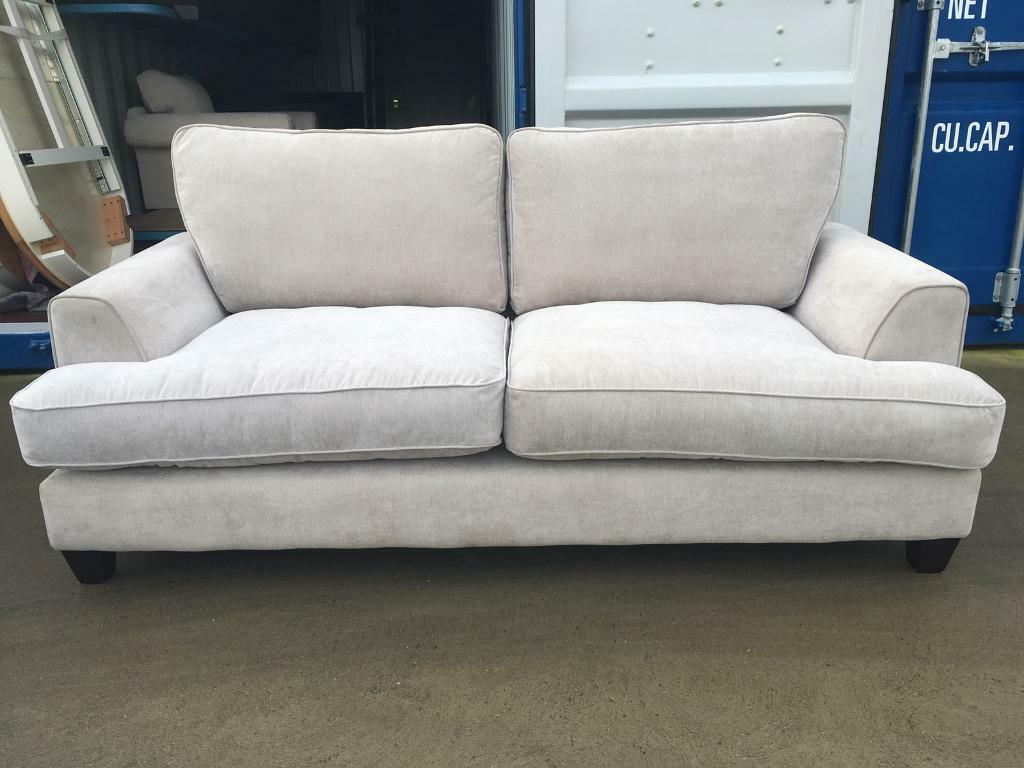 Dfs Tate Beige Fabric 3 Seater Sofa Ex Display In