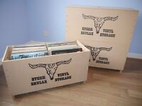 Vinyl LP Record Stackable Storage Box Strong Large Capacity Extremely Robust