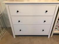 Ikea bedside table & chest of draws