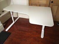 Ikea Bekant corner desk -white