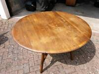 Ercol drop leaf dining table retro