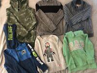 Age 4-6 Boys Bundle of Jumpers, Hoodies & Polo Necks