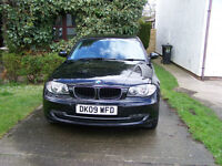 BMW 116d Sport 2.0L 5dr Black, Diesel, Manual, Excellent Condition, 09 Reg