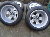 4 x17 GENUINE MERCEDES AlLOY WHEELS AND WINTER TYRES WILL FIT VITO/VIANO