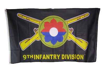 3x5 Army 9th Infantry Division Old Reliables Knitted Nylon Premium Flag 3'x5'