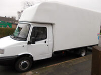 man and lge van\ house removals