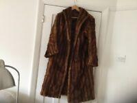 Vintage Beautiful full length Musquash fur coat