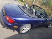Mazda MX5 2005 petrol 1.8 manual hard and soft roof full mot