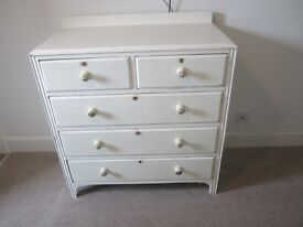 Three / two split Painted chest of drawers.