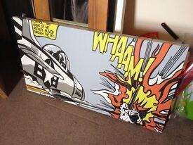 Roy Lichtenstein Pop Art print canvas