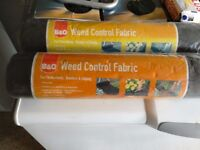 Weed control fabric 2 rolls ideal for flowerbeds , borders ,edging brand new