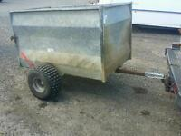 Tfm quad trailer 5x3 ideal for stables farm logs livestock et