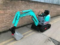 Kobelco micro/mini digger, yanmar engine, expanding tracks, low hours