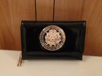 Ladies Black Fashion Purse with gold detail on front