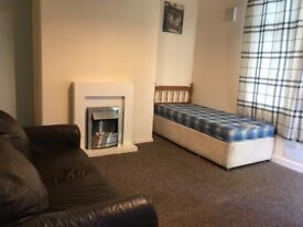 Crossflatts, Beeston, LS11. Large, fully furnished, self contained, single studio. NO FEES