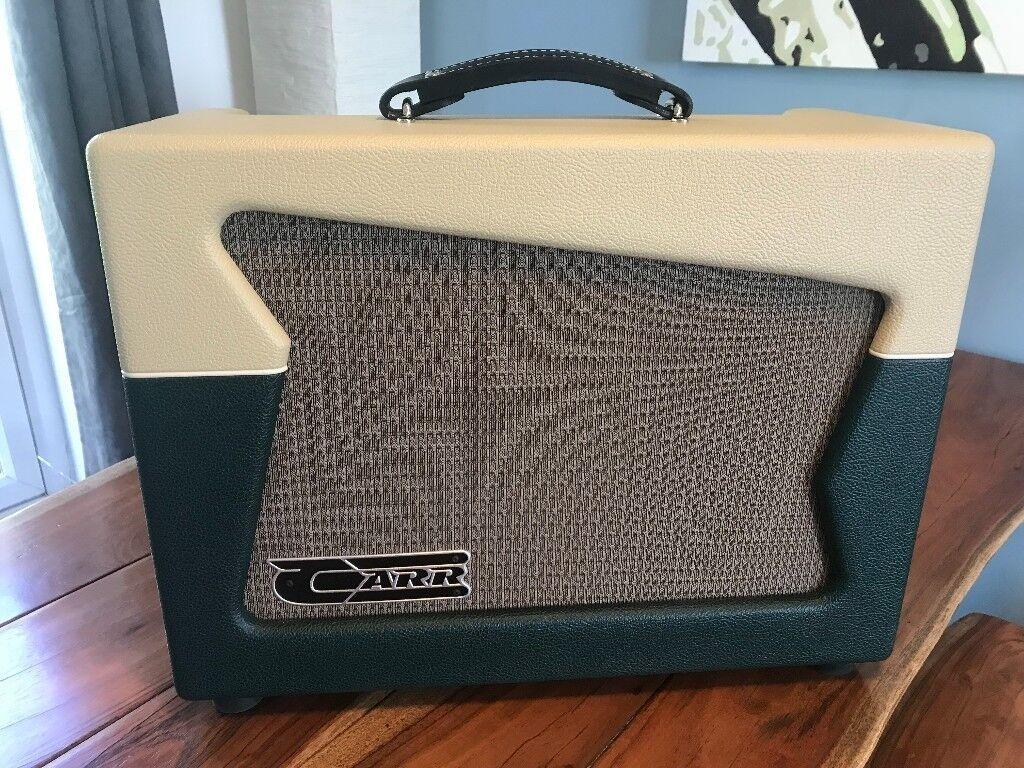 Carr Skylark 12w Amplifier Cream British Racing Green In Brandon Audio