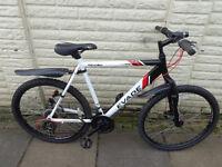 mens apollo aluminium front suspension bike, new lights, excellent condition FREE DELIVERY