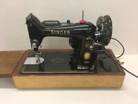 Superb Singer 99K Electric Pedal Operated Sewing Machine in Full Working Order