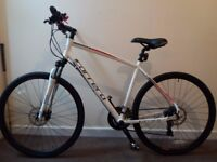 """Carrera Crossfire 2 White 21"""" frame. I PERSONALLY DELIVER IT WITHIN WOLVERHAMPTON AREA"""