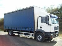 MAN TGM 18-240 Day cab curtainside rigid