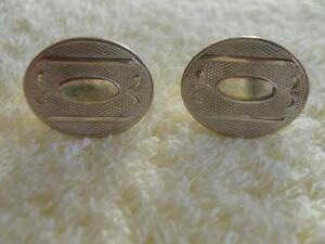 GENTLEMAN'S VINTAGE CUFF LINKS..1Pr. Silvertone..1 Pr. Goldtone