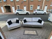 crushed velvet 3 seater sofa and big armchair Delivery available