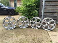 SET OF 4 FORD FOCUS ST3 ORIGINAL ALLOYS