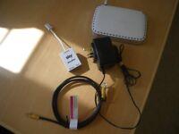NETGEAR 0681 SKY MODEM ROUTER + WALL ADAPTOR; ADSL etc.