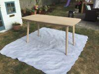 Lovely John Lewis mid century modern dining table desk 6 seater retro style