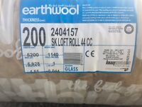 Earthwool Insulation 200mm thick