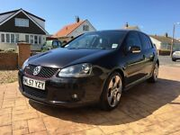 "Golf gti. Black, 53500 miles, full service history, dsg automatic, full black leather, 18""monzas."