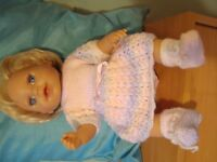 """new hand knitted dolls clothes to fit baby born or annabell or any 16/19"""" doll"""