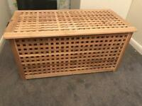 IKEA Hol Acacia Wooden Storage Box