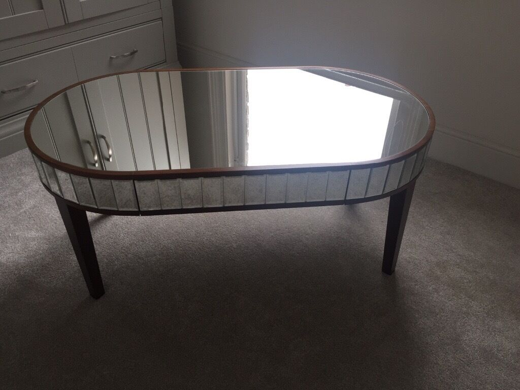 laura ashley capri mirrored coffee and side table | in