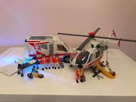 Playmobil Ambulance & Helicopter