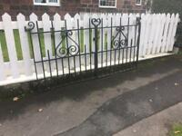 very well built steel driveway gates viewing essential £100