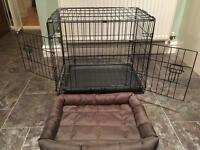 Small dog crate and water resistant crate mat - immaculate